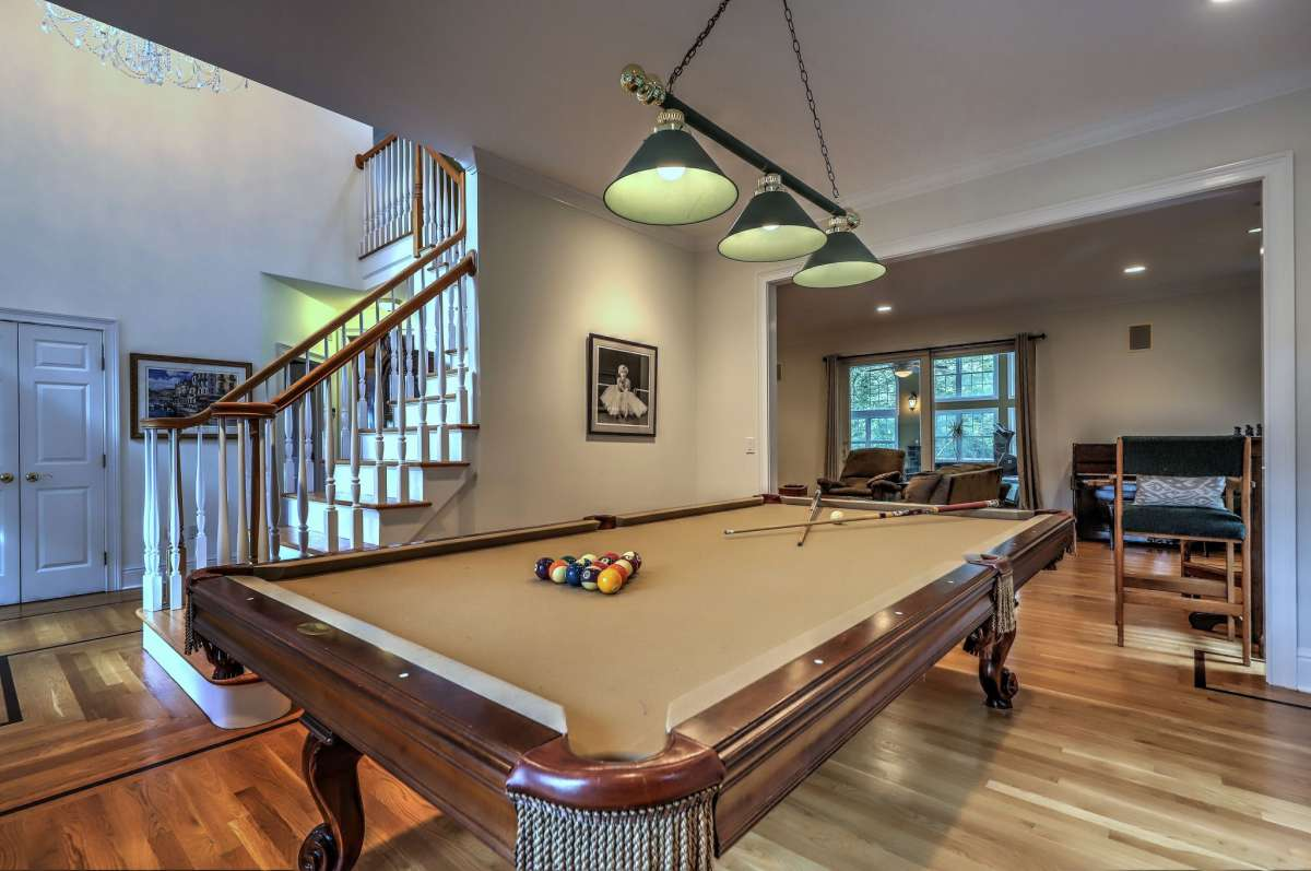 Salle de billard au 47 Golden Hill Lane, Shelton.